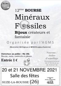 12e Bourse Minéraux, Fossiles et Bijoux