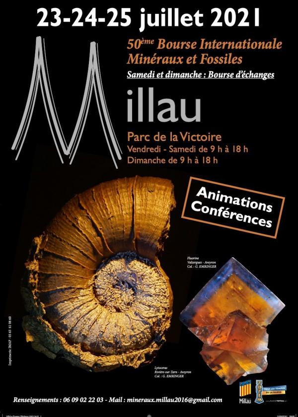 50 ème Bourse internationale minéraux fossiles gemmes Millau