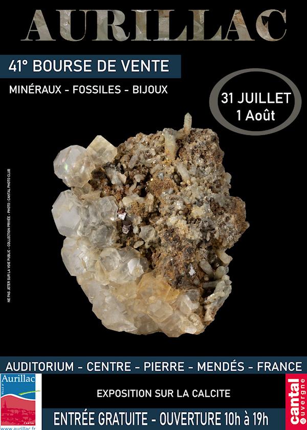 41ème Bourse de Minéraux, Fossiles et bijoux d'Aurillac