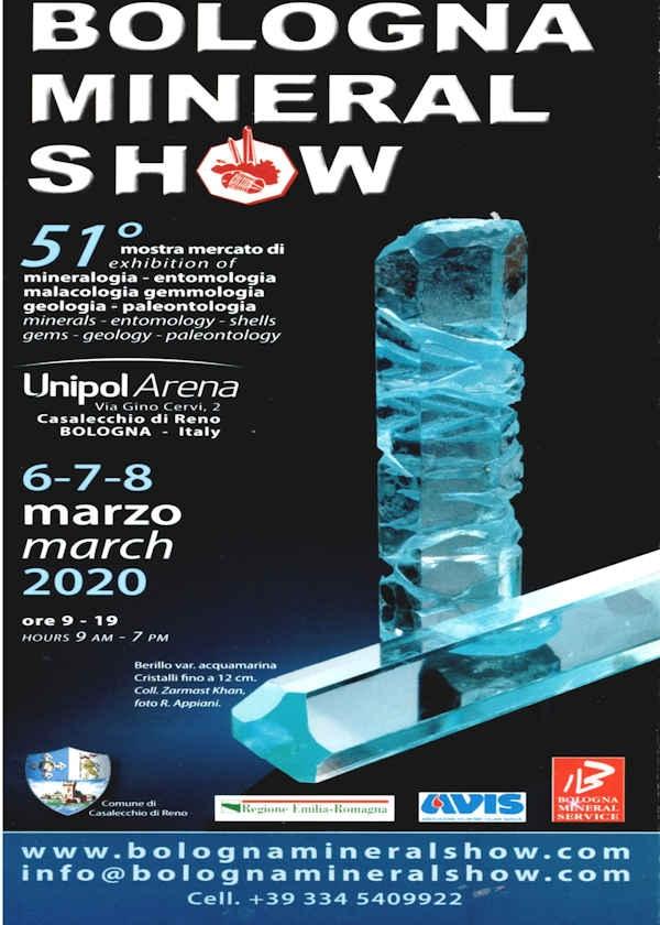51ème Bologne mineral show 2020