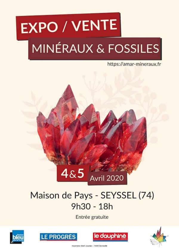 13ème édition exposition vente de minéraux et fossiles