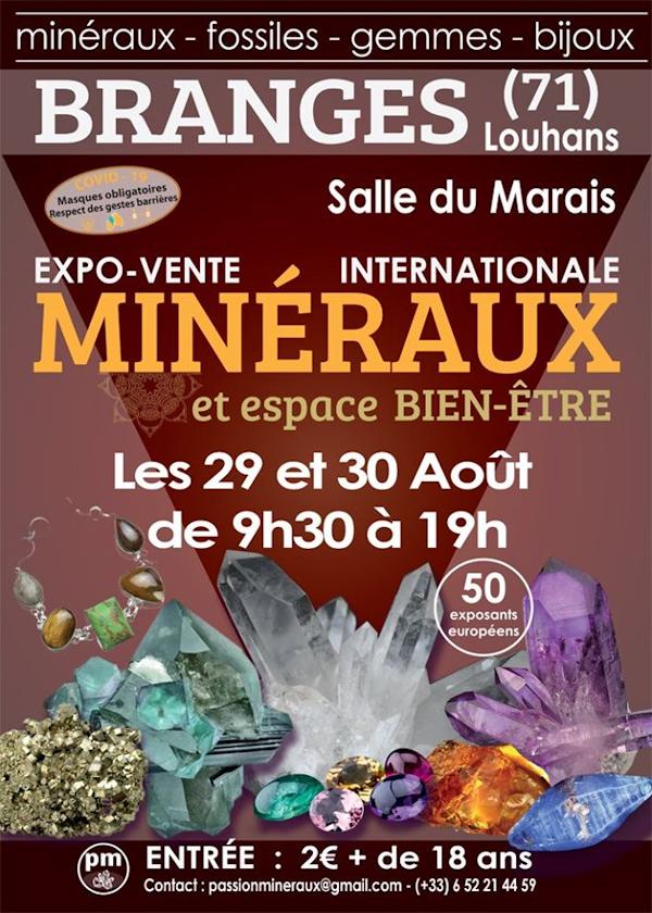 Premier salon exposition vente de Minéraux de Branges