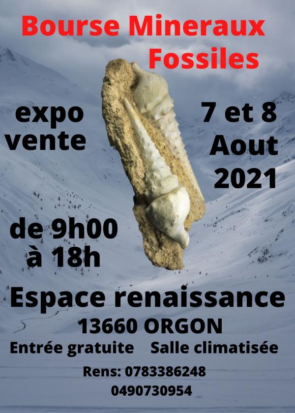 5éme bourse minéraux fossiles d'Orgon