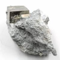 Cubes de pyrite sur gangue de Navajun Espagne