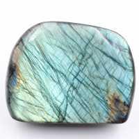 Labradorite bleu bloc entièrement poli face entièrement colorée