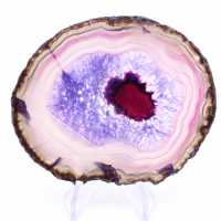 Tranche d'agate violette