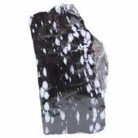 Grand bloc d'obsidienne neigeuse