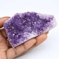 Améthyste d'Uruguay en cristaux