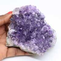 Améthyste naturelle cristallisée