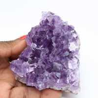 Cristallisation naturelle d'améthyste