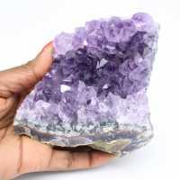 Druse de pierre d'améthyste naturelle