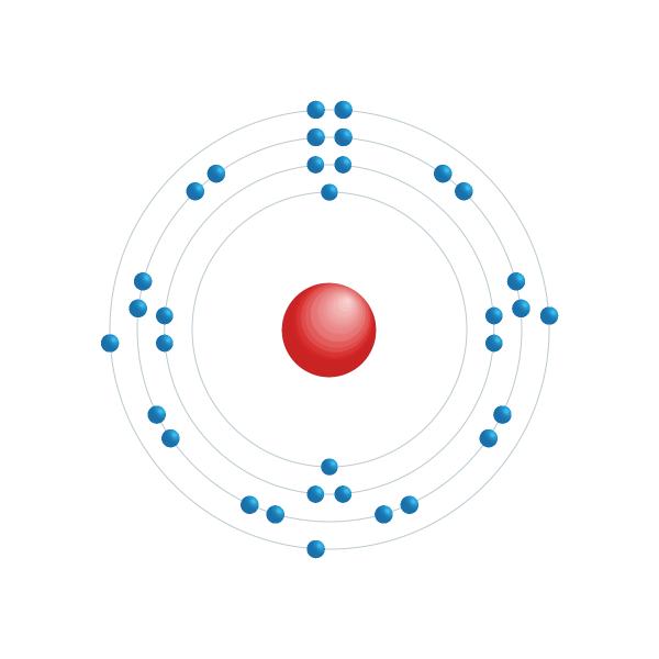 Arsenic Diagramme de configuration électronique