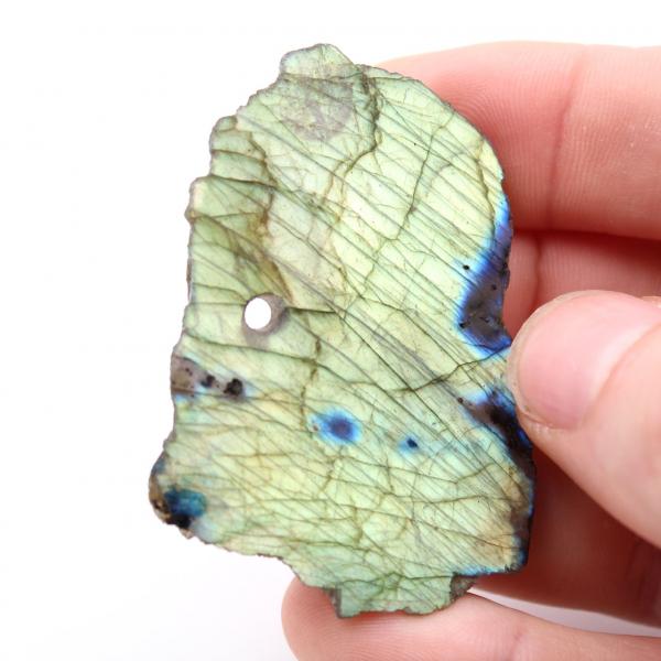 Pendentif en Labradorite forme libre poli brut