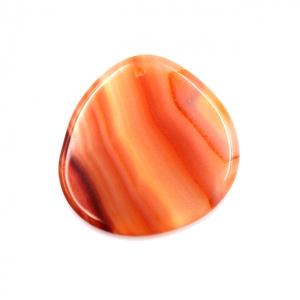 Pendentif en agate orange forme libre