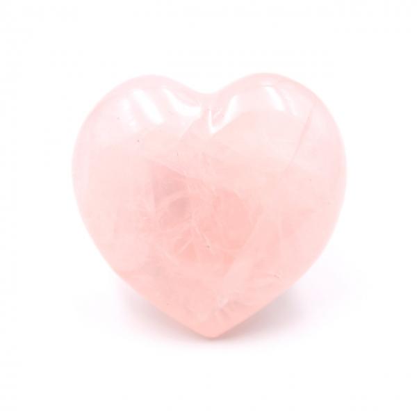 Coeur en quartz rose de Madagascar