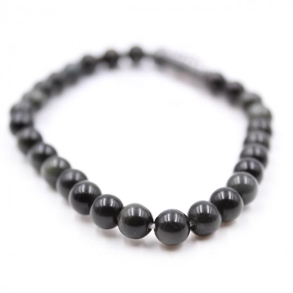 Bracelet d'obsidienne 6 mm