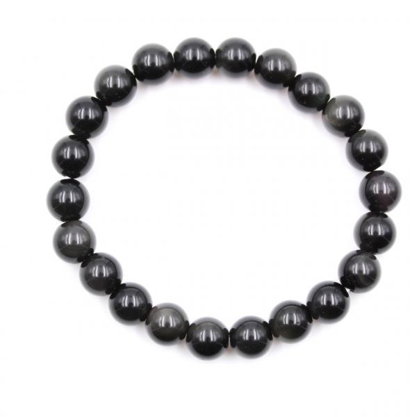 Bracelet d'obsidienne 8 mm