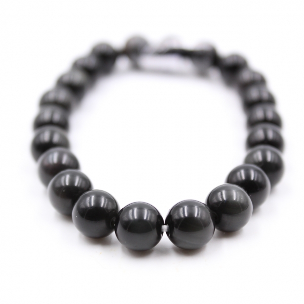 Bracelet d'obsidienne 8 mm