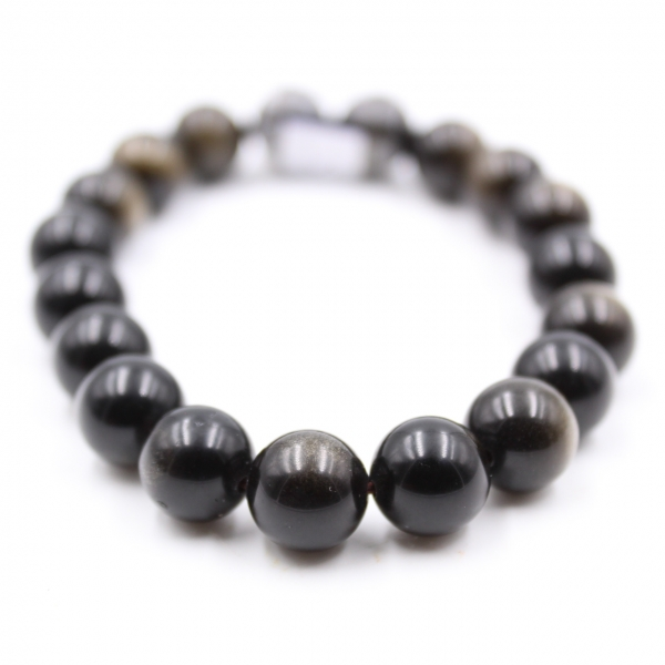 Bracelet d'obsidienne 10 mm