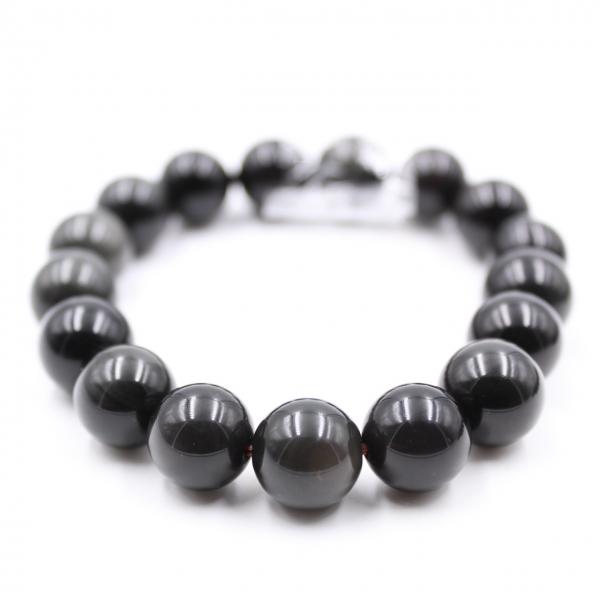 Bracelet d'obsidienne 12 mm