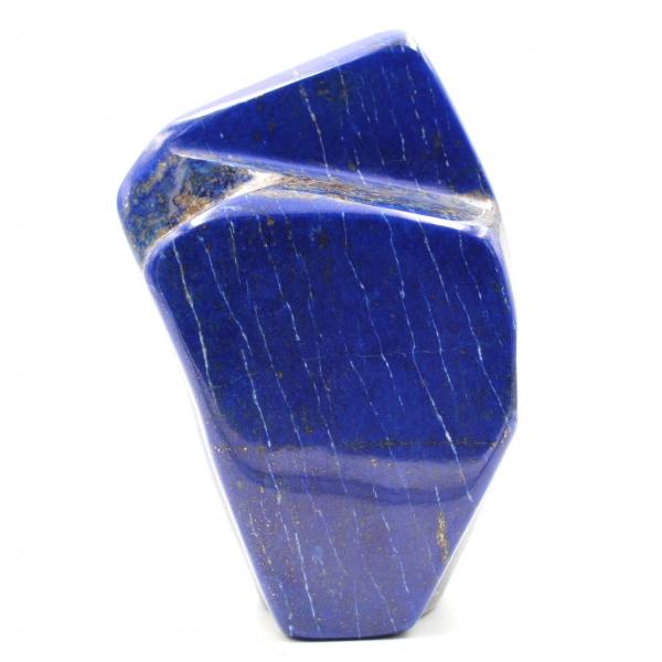 Bloc en pierre de lapis Lazuli forme abstraite d'ornement