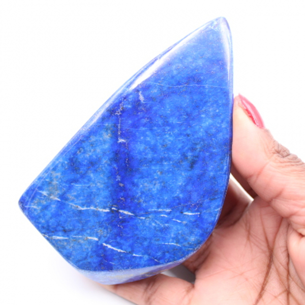 Bloc de pierre de Lapis-lazuli forme libre