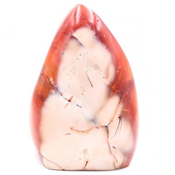 Pierre de cornaline forme libre entièrement polie
