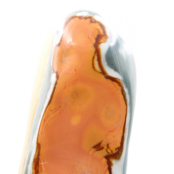 Jaspe imprimée forme libre polie bleu orange 3 kilo