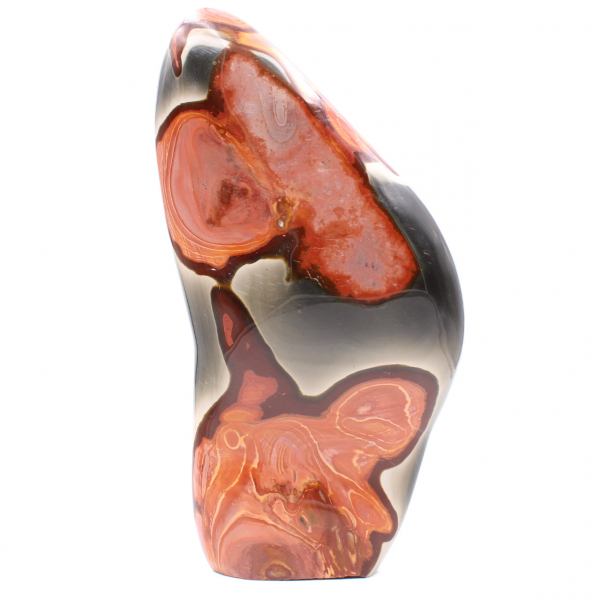 Bloc décoratif en jaspe imprimée, rose marron orange