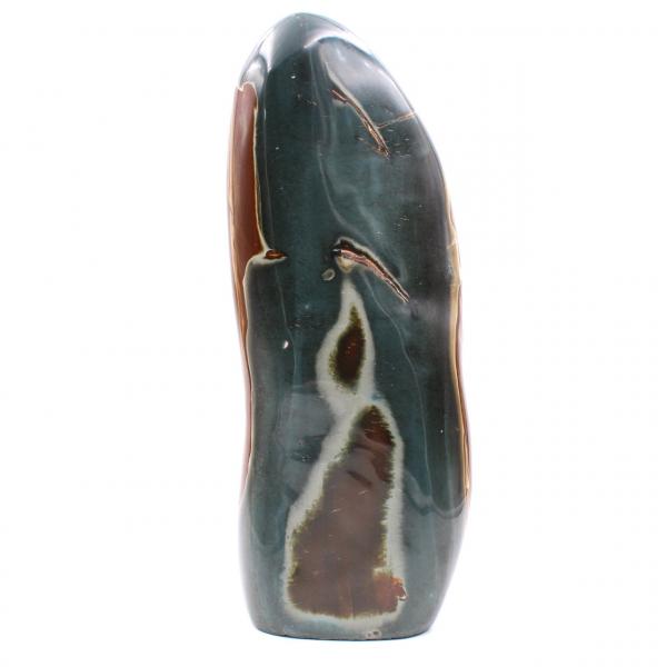 Grande jaspe imprimée polie, gris bleue et marron