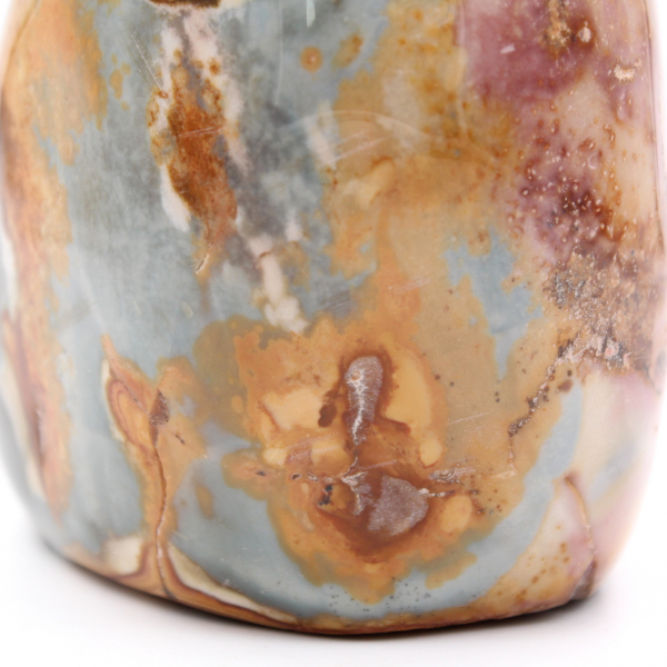 Jaspe imprimée, pierre de décoration, 2 kilo, rose orange bleue