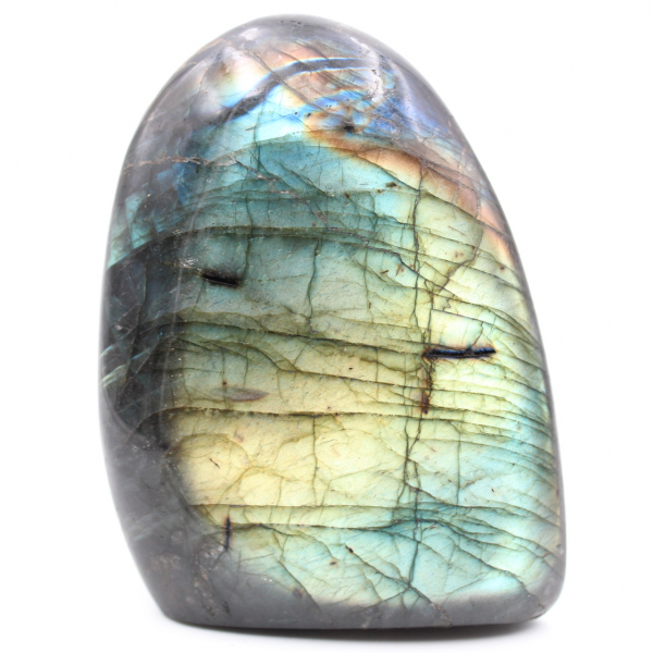 Labradorite jeune verte, pierre de décoration