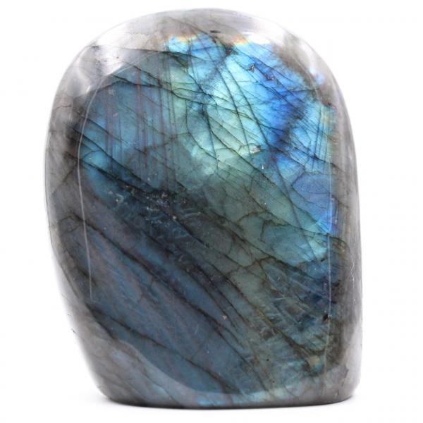 Bloc en pierre de labradorite bleue