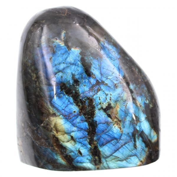 Pierre de labradorite bleue forme polie