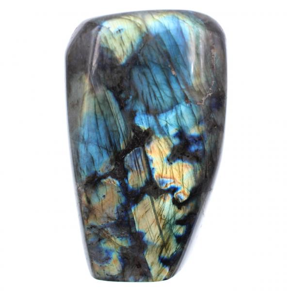 Labradorite bleue jaune pierre d'ornement