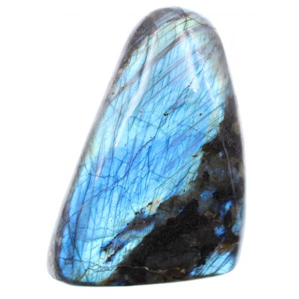 Labradorite à reflets bleue, forme libre de décoration