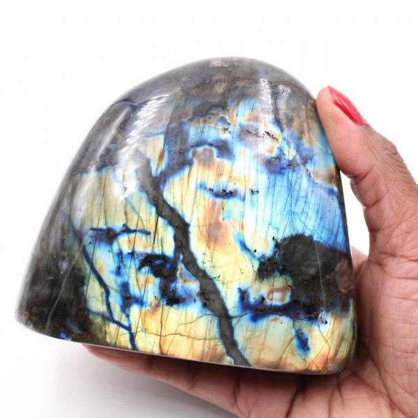 Labradorite multicolore entièrement polie pour décoration