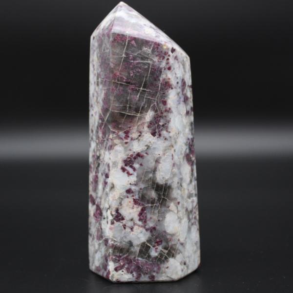 Prisme en pierre de lépidolite
