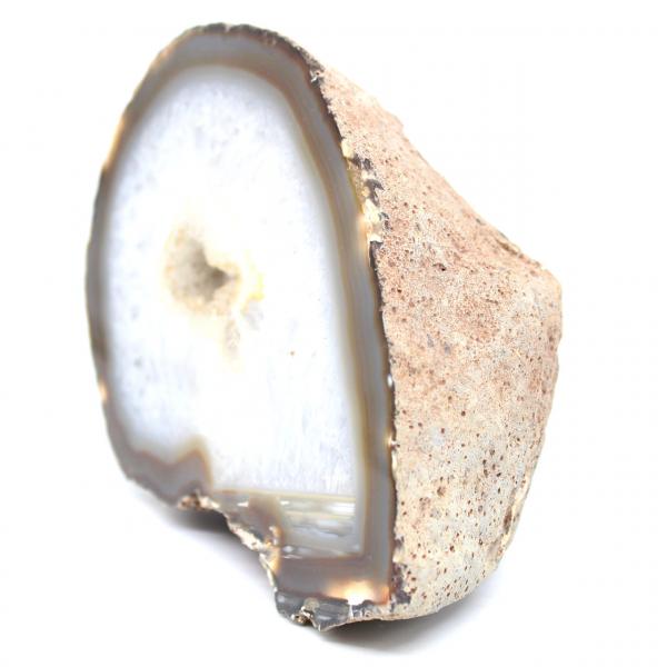 Demi géode d'agate quartz