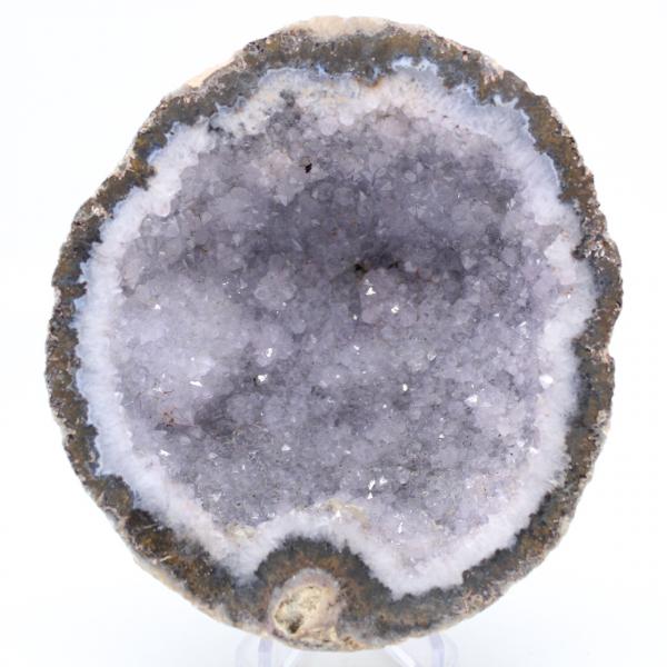 Géode agate coconut