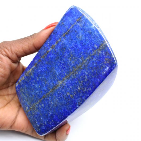 Pierre polie naturelle de Lapis-lazuli