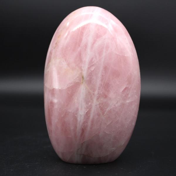 Forme libre en pierre de quartz rose