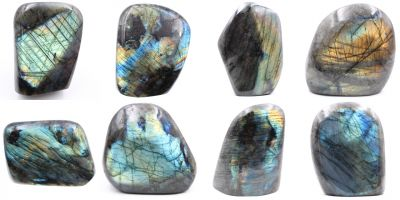Formes libres de Labradorite TOP Madagascar collection août 2020