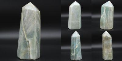 Prismes en pierre de garniérite Madagascar collection février 2021